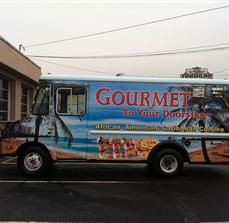 Gourmet To Your Doorstep Food Truck Wraps And Graphics