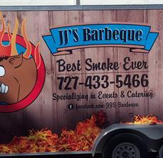 JJ's BBQ Custom Food Trailer Graphics
