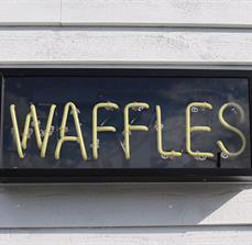 Smash Waffles Custom Food Truck Neon Sign