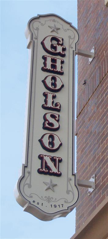 Custom hotel signage