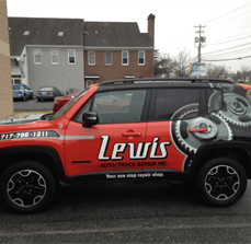 Lewis Auto Truck Repair Vehicle Wrap
