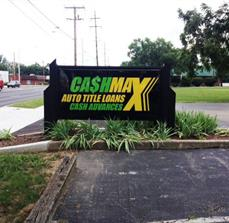 Cashmax Monument Sign