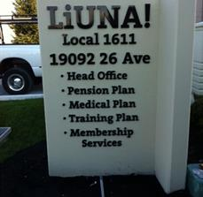 LiUNA Monument Sign