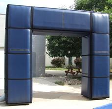 90 Degree Black Inflatable Arch