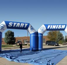 Inflatable Start And Finish Arches