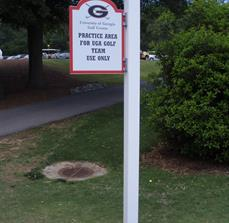 Golf Course Practice Area Signs