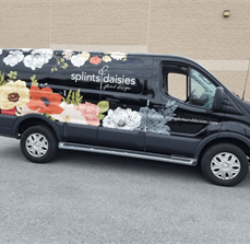 Splints and Daisies Floral Design Vehicle Wrap