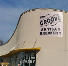 New Groove Artisan Brewery Hanging Banner