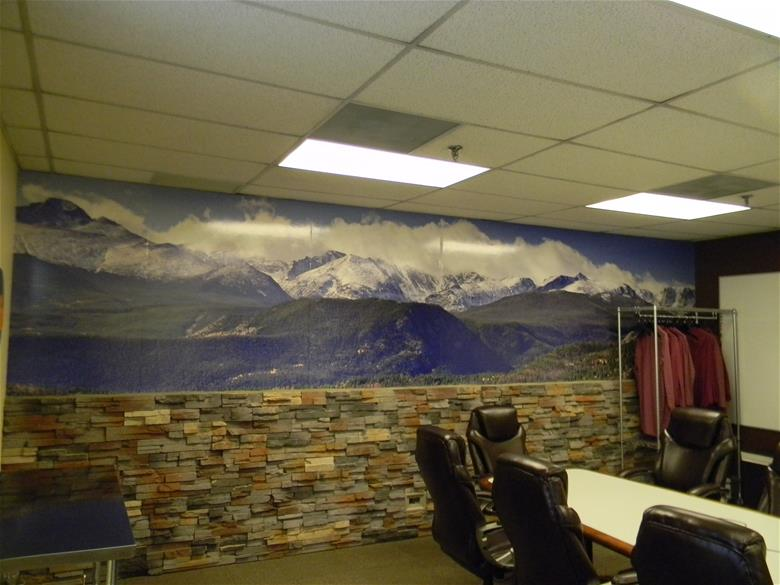 Conference room wall graphics