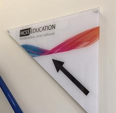 HCSS Education Wayfinding Sign