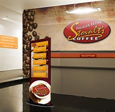 Coffee Digital Kiosk, Wall Graphics, And Wayfinding Signs