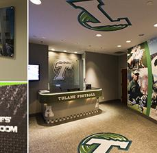 Tulane Wall Art Stand Offs, Wall Graphics, and Room Signs