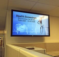 Digital Health Screening Display