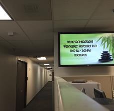 Digital Massage Schedule Display