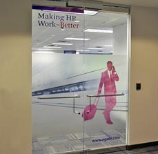 NGA Human Resources Window Lettering and Graphics