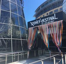 Sydney Festival Building Sign