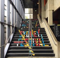 Sydney Festival Stair Graphics