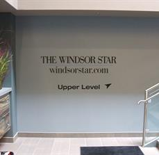 Windsor Star Directional Wall Graphics And Lettering