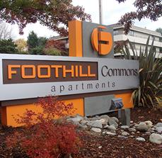 Foothill Commons Apartment Monument Sign
