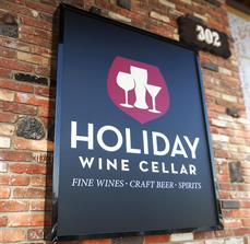 Holiday Wine Cellar Wall Sign