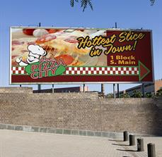 Jo's Pizza City Billboard Sign