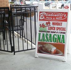 Bambinelli's Outdoor Menu Board