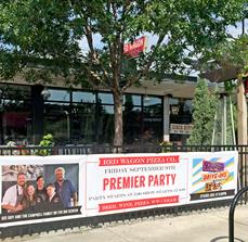 Red Wagon Pizza Co. Premier Party Banner