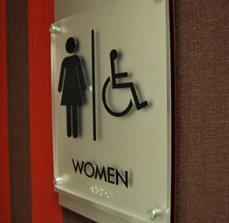ADA Women's Restroom Sign