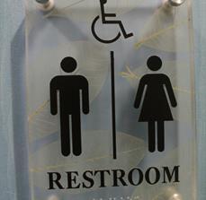 Restroom Standoff Sign