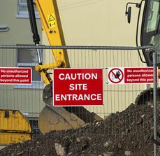 Construction Fence Sign
