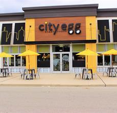 City Egg Dimensional Building Letters