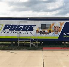 Pogue Construction Trailer Wrap