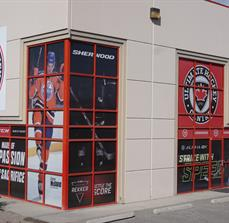 Ultimate Hockey Centre Window Graphics and Building Signs