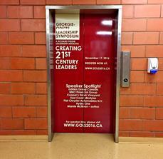 Georgie-Odette Leadership Symposium Elevator Graphics