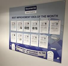 Faurecia Idea Of The Month Board