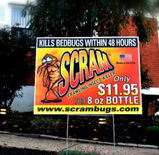 Scram Bugs Custom Yard Sign