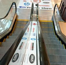 Conference Vinyl Escalator And Floor Graphics