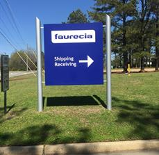 Faurecia Outdoor Wayfinding Sign