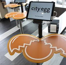 City Egg Counter Tops and Digital Kiosks