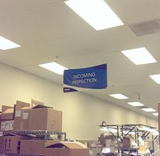 Hanging Wayfinding Ceiling Sign