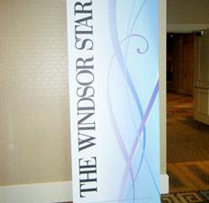 The Windsor Star Banner Stand