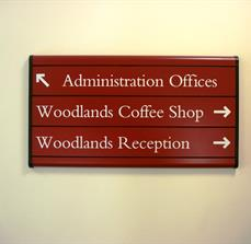 Woodlands Building Wayfinding Sign