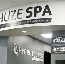 Chuze Spa Dimensional Wall Letters and Wall Signs