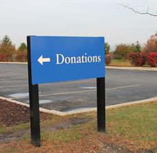 Outdoor Donations Wayfinding Sign