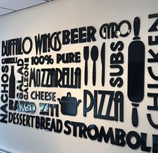 Anthony's Pizza Dimensional Wall Letters