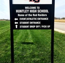 Huntley High School Wayfinding Site Sign