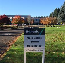Tektronix Outdoor Wayfinding Sign