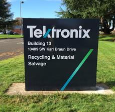 Tektronix Monument Sign