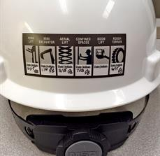 Hard Hat Training Sticker