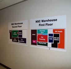 NSC Warehouse Wayfinding Wall Signs